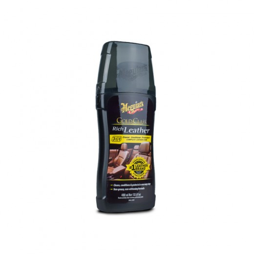 Čistič a kondicionér na kožu Meguiar's Gold Class Rich Leather Cleaner and Conditioner (400 ml)