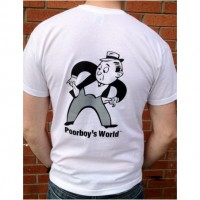 Tričko Poorboy 's World T-Shirt White M
