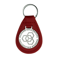 Kožená kľúčenka Carbon Collective Key Fob Red