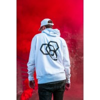 Mikina Carbon Collective Hoodie White - M