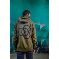 Mikina Carbon Collective Hoodie Green - L