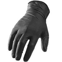 Chemicky odolná nitrilová rukavice Carbon Collective Black Textured Nitrile Glove - L